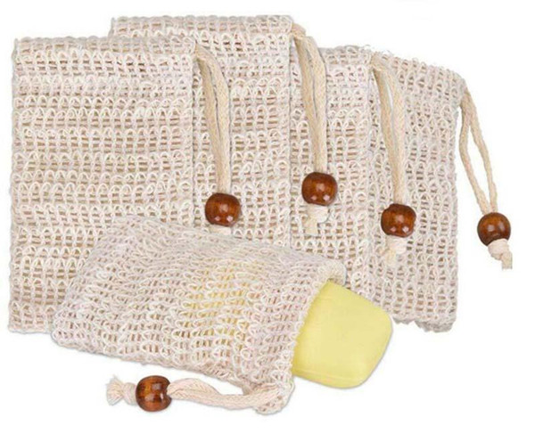 top popular Wholesale Soap Mesh Soap Foaming Net Bubble Mesh Bag Skin Bathroom Bath Brushes Sponges Scrubbers Clean Tools DHL Free 2021
