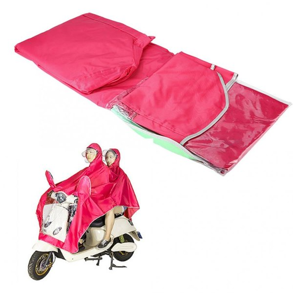 Motocycliste Raincoat Double Amovible ponchos adulte Raincoat Rose rouge Oxford voiture électrique Manteau de pluie imperméable 4XL