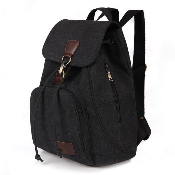 Vintage Canvas Teenager School Bags Men/Women Backpacks Large Shoulder Backpacks men Casual Travel Bag 14 inch Laptop Backpack