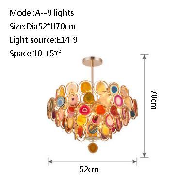 A 9 lights