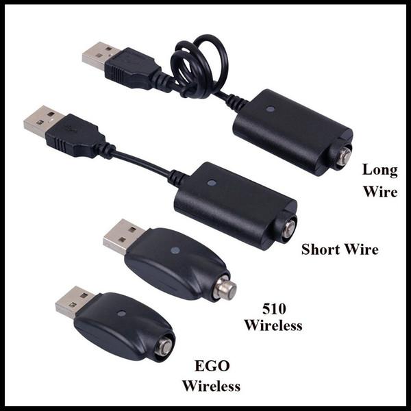 Câble de chargeur USB pour cigarette électronique Câble de chargement de batterie filaire long et court filaire 510 Câble de chargement USB sans fil EGO EVOD