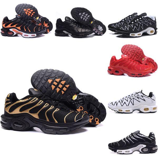 Nike Air TN 1 Toptan 2019 Moda Erkek Tn Running Spor Ayakkabı Üçlü Beyaz Nefes MESH Chaussures Hava Tn Plus Ultra Se OG Man dabao