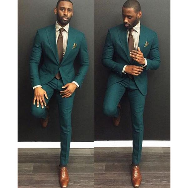 Green Burgundy Suits Men 2018 Trajes De Hombre Traje Homb Custom Made Groom Suit Suit For Men mens wear suits 2 piece (Jacket+Pants+Tie)