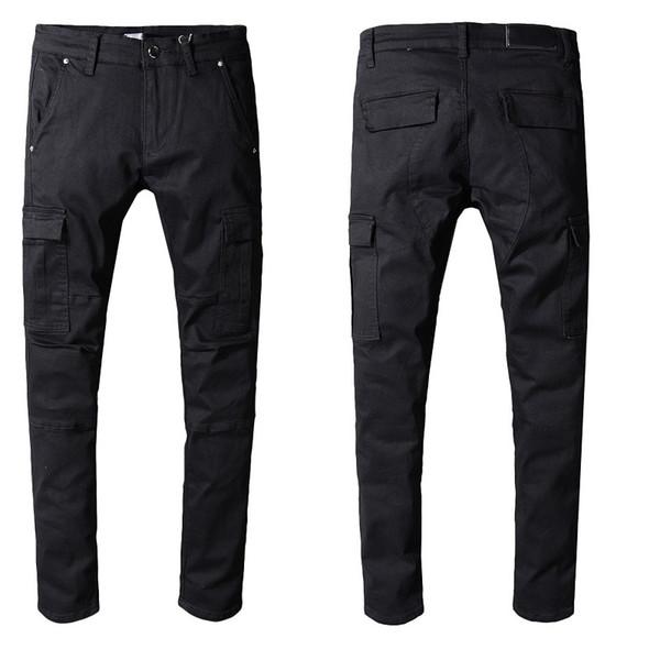 Mens Designer Pants Loose Casual Cotton Mens Designer Jeans Trousers Man Students Male Pantalones Mens Jeans