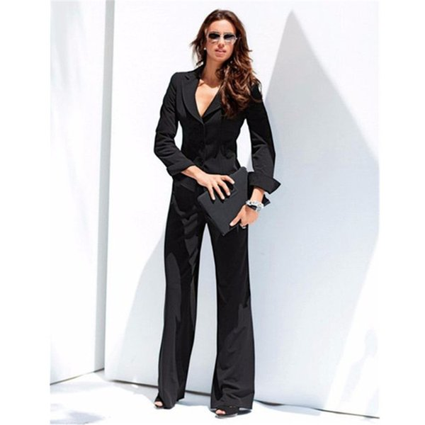 Customized slim slimming solid color ladies suit two-piece suit (jacket + pants) ladies business office official business wear