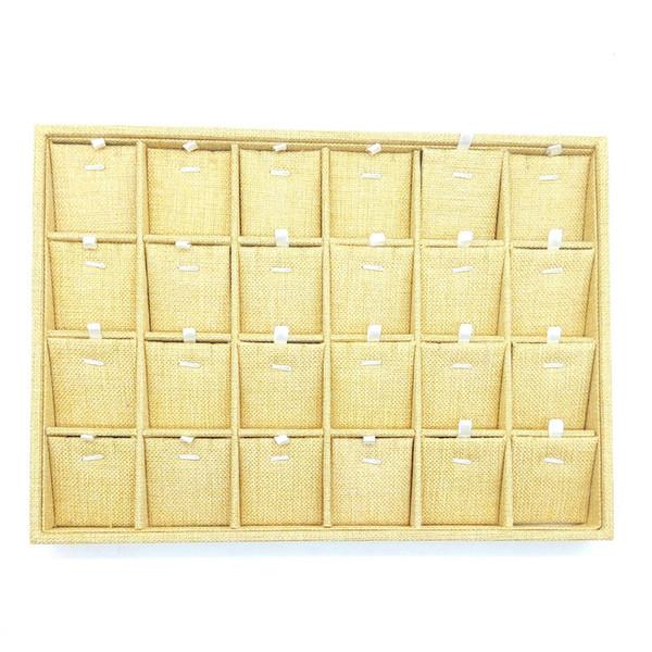 24 de arpillera colgante collar pendientes placa de pantalla de gama alta de la joyería soporte de exhibición