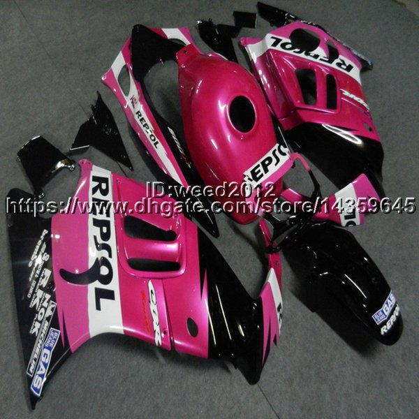 5Gifts+Custom repsol pink cowl for HONDA CBR600F3 1997-1998 F3 97 98 ABS motorcycle Fairing hull