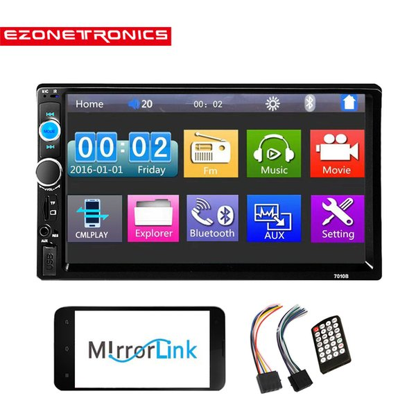 Car Radio Player Mirror Link autoradio 2 din General Car Models 7'' inch LCD Touch Screen Bluetooth stereo Rear View Camera7010B