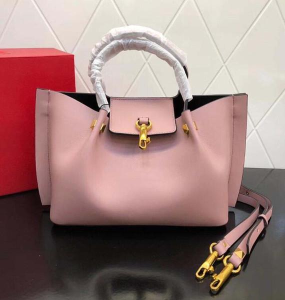 2018 New Fashion Handtasche Schultertasche Lady Bag Gold Rivet Valentinstag Taschen Kameratasche Clutch Kästchen Blank Nude Rotwein Braun ff10