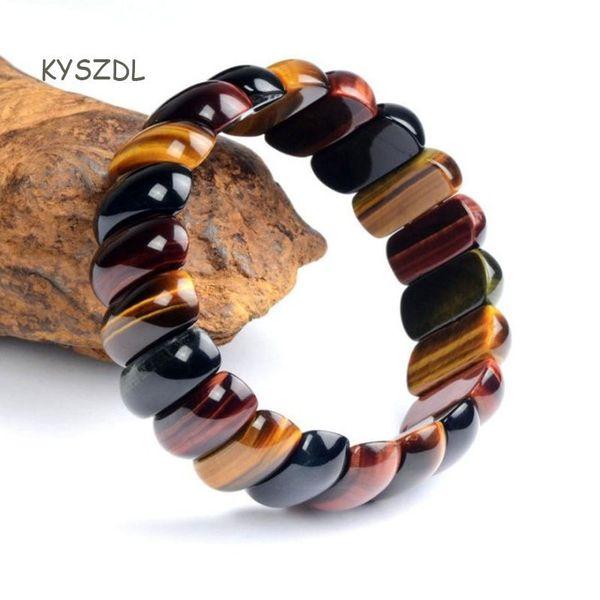 Kyszdl Tiger Eye Love Buddha Bracelets & Bangles Trendy Natural Stone Bracelet For Women Famous Brand Men Jewelry C19041703