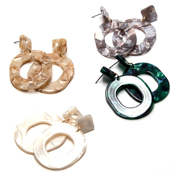 best selling New Fashion Designer Retro Acrylic Star Moon Long Pendant Temperament Earrings Female Statement Earrings Free Shipping