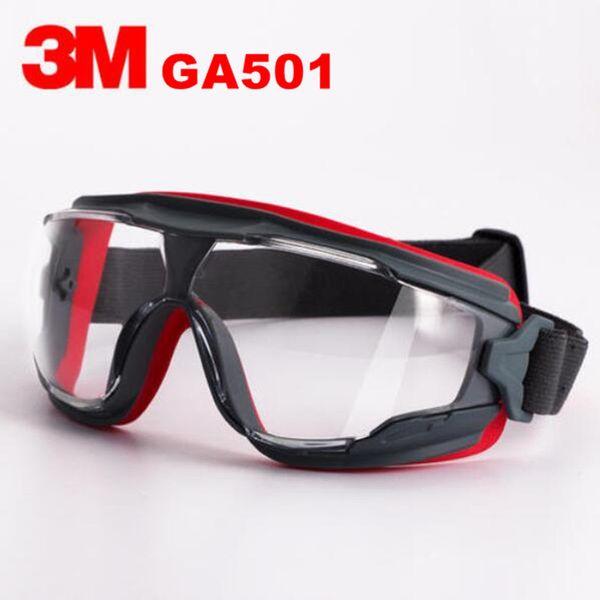 3m ga501 goggle clear scotchgard anti-fog lens anti-shock riding a sport labor protection airsoft glasses ing thumbnail