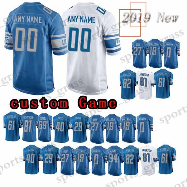new style 492dd e119a 2019 Custom Game Detroit Lion Jersey 15 Golden Tate 21 Ameer Abdullah 85  Eric Ebron 59 Whitehead 13 TJ Jones 11 Marvin Jones Jr. Jerseys Men From ...
