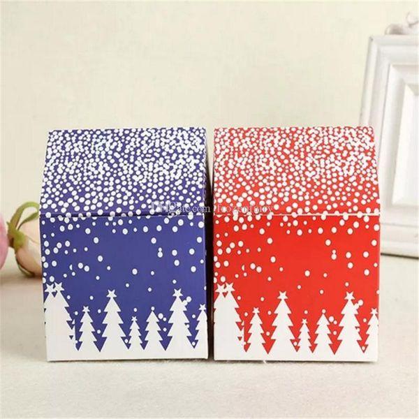 Caja de regalo Red House Snow Candy Biscuit Cookies Cake Box Nochebuena Apple Cajas Decoración de fiesta Venta al por mayor cc142-147 2018053105
