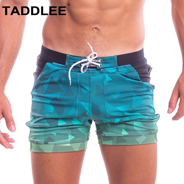 taddlee brand swimwear men swimsuits swim boxer briefs shorts square cut surfing boardshorts bathing suits swim trunks gay