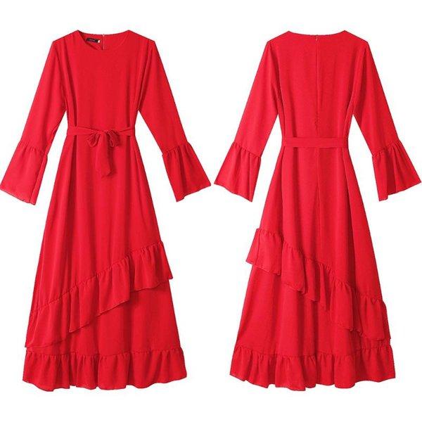 Kırmızı elbise l
