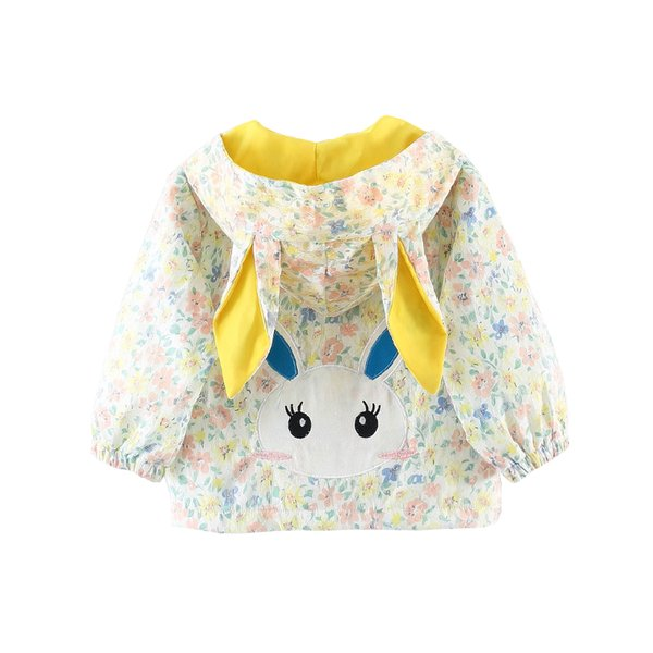 Dollplus New Kids Girls Jacket Coat Spring Autumn Children Clothes Cartoon Hooded Outerwear Coat Girls Jackets Long Sleeve Top