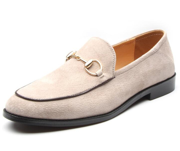 New Street Trendy pointed suede slip-on comfortable leather shoes male Wedding Homecoming Prom Formal Evening shoes size 38-44 cx627
