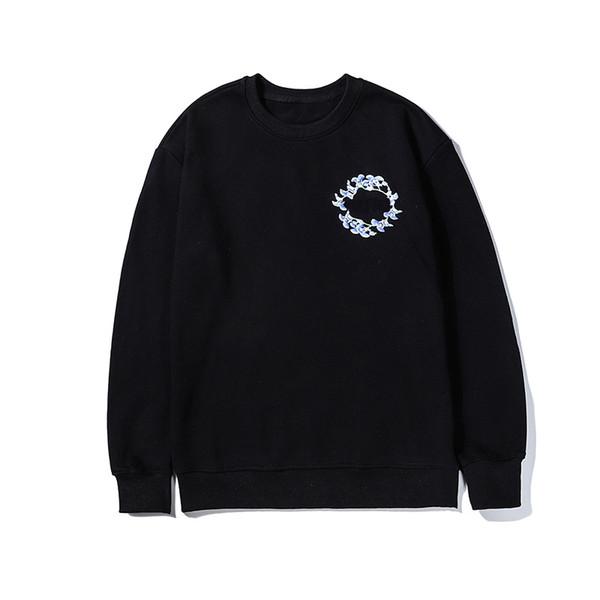 O-boyun Tasarımcı Marka Erkek Woemens Kazak Rahat Uzun Kollu Bluz M-2XL Çiçekler Baskılı Tişörtü Tops Kalite LSY982612