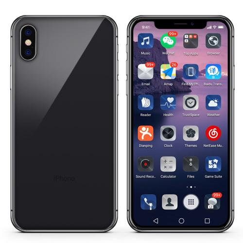 FACE ID Goophone X 5.8 inch Full Screen 16GB + 1GB MTK6580 Quad Core Android 7.0 Smartphone Glass Body Show 128GB /4g lte Unlocked Cellphone