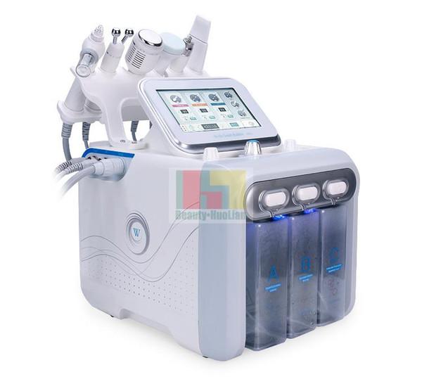 2019 neueste 6 in 1 Hydra Dermabrasion RF Bio Lift Spa Gesichtsmaschine RF Gesichtsmaschine Wasser und schälen Kalten Sauerstoffspray