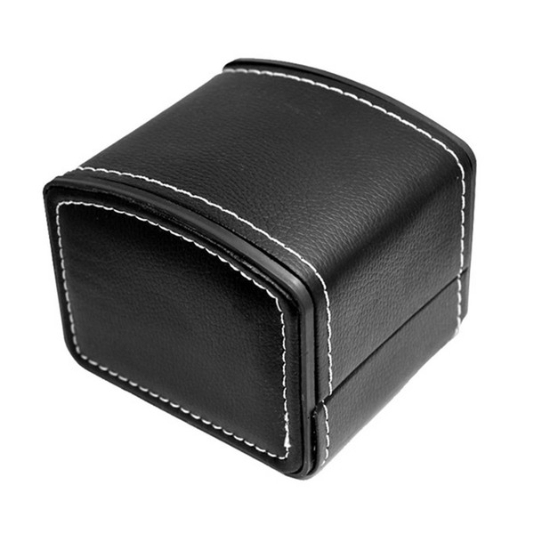 Fashion Watch Box Faux Leather Square Jewelry Watch Case Display Gift Box With Pillow Cushion Portable Organizer Case