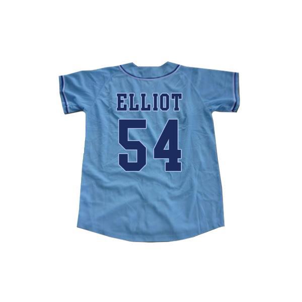 Reminiscência Chunichi Dragons Jack Elliot Mr. Baseball Filme Jersey NEW ponto Sewn novo costume algum nome qualquer número rápido frete grátis