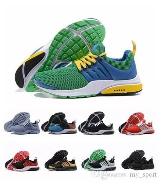 Mejor calidad Prestos 5 V amarillo zapatillas para hombre mujer Presto Ultra Br Qs moda Triple S Fly Casual para hombre deporte zapatillas