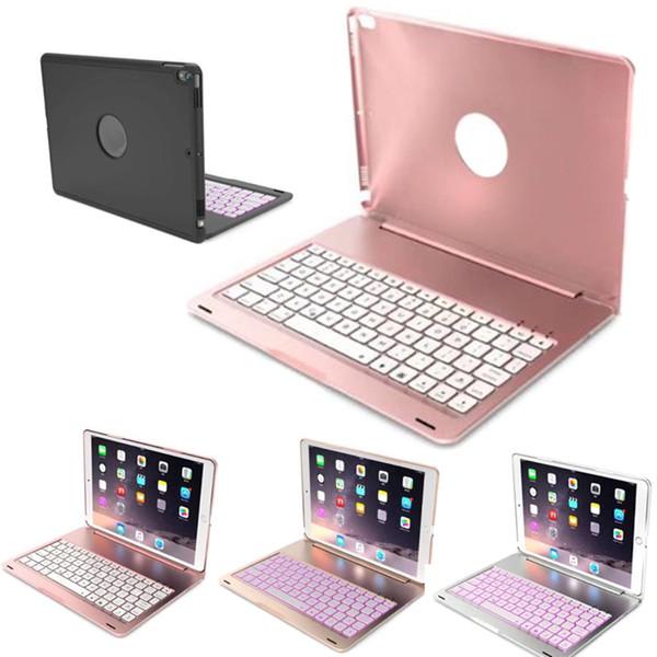 Recém caso de teclado Bluetooth Cubra com 7 casos a cores retroiluminado de alumínio para iPad pro 10,5 999