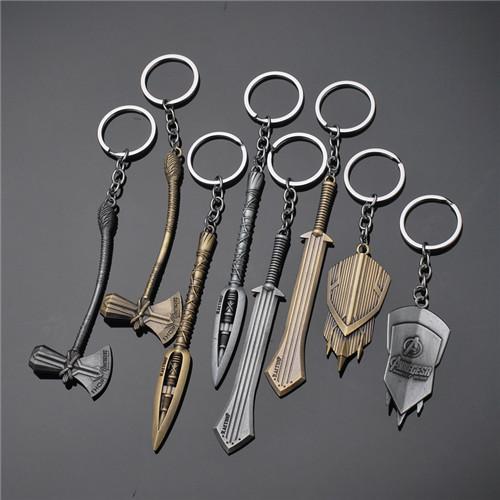 17 arten Wunder Rächer 4 Keychain Thor Axt Hammer mjolnir Unendlichkeit War The Dark World Key Finder Taschen Schlüsselanhänger Schmuck Zubehör jssl001