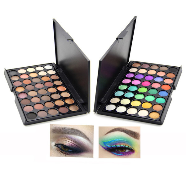 Wholesale 40Color Matte Eyeshadow Palette Professional Makeup Shimmer Eye Shadow Cream Easy To Wear Long Lasting Radiant Natural Best Shadow