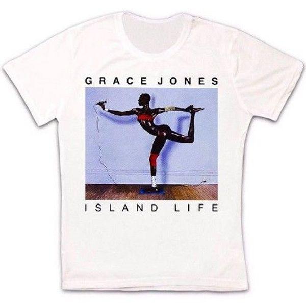 Grace Jones Island Life Model T Shirt 1289 jersey Print t-shirt Brand shirts jeans Print Classic Quality High t-shirt