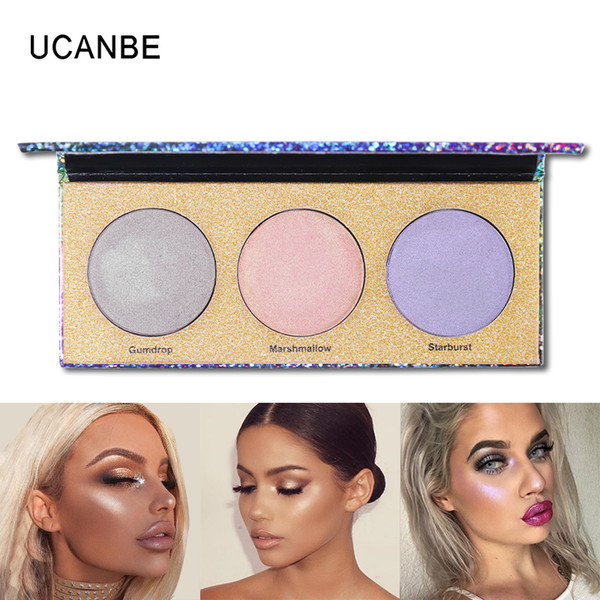 Factory Metal Face and Body Glow Kit EyeShade Highlighter Makeup Shimmer Face Brighten Powder Base Golden Light E-Shadow Illuminator Palette