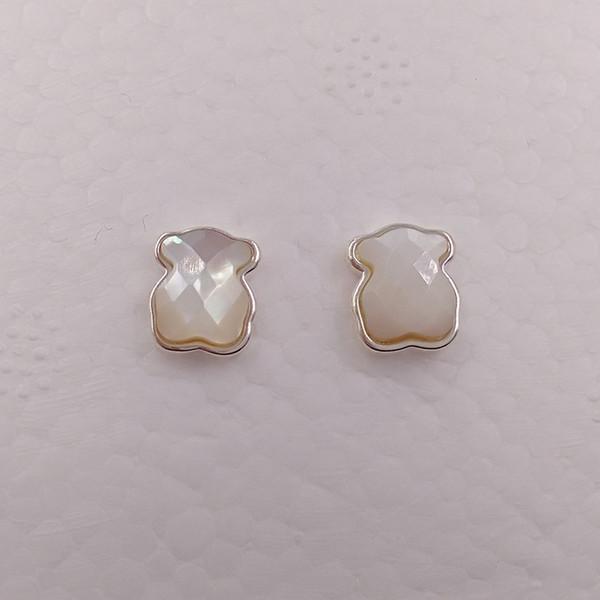 Ours Bijoux Boucles d'oreilles en argent Sterling 925 Argent Boucles d'oreilles Ours Couleur Convient à European Jewelry Style Gift 315113560