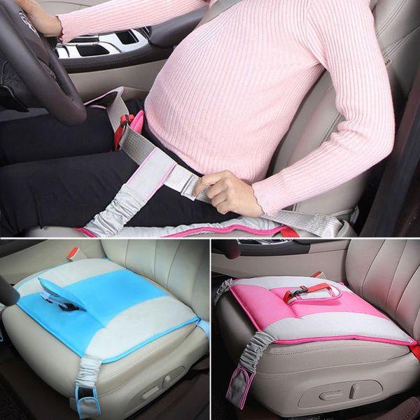 42 cm * 42 cm Cubierta del cinturón de seguridad del asiento de coche Cojín del hombro Cojín suave del coche Cubierta protectora de la correa de seguridad para la mujer embarazada