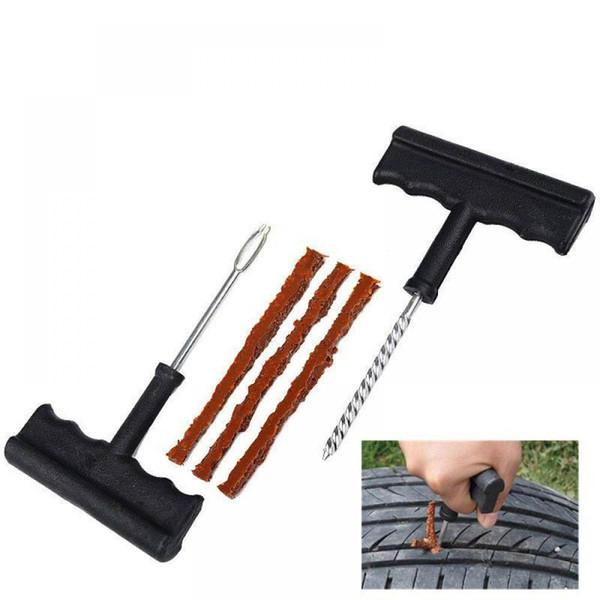 Car Tire Repair Tool Kit For Tubeless Emergency Tyre Fast Puncture Plug Repair Block Air Leaking For Car Truck Motobike
