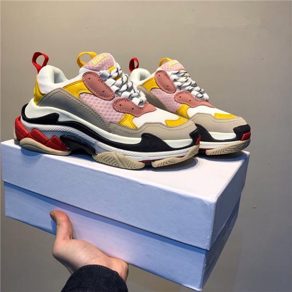 designer casual Sports Trainers Chaussures 36-45 New Fashion Paris Triple-S Designer Shoes Low Platform Sneakers Triple S Mens Casual