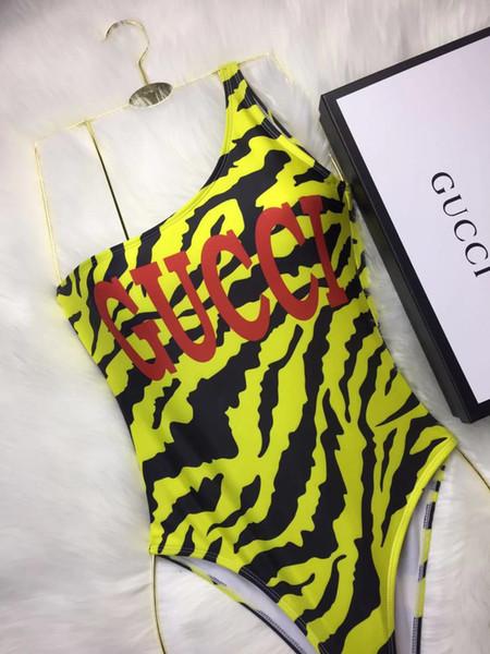 19GG Luxus Marke Senior Designer Badeanzug backless klassischen Leopardenmuster Buchstaben Neckholder Badeanzug Weste sexy Bikini einteilig