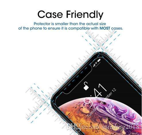 Für Iphone X XR XS MAX Ausgeglichenes Glas-Clear Displayschutzfolie Prime Papierpaket