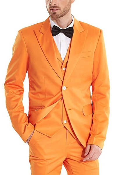 Classic Groomsmen Peak Lapel Groom Tuxedos Two Buttons Men Suits Wedding/Prom/Dinner Best Man Blazer ( Jacket+Pants+Tie+Vest ) A1059