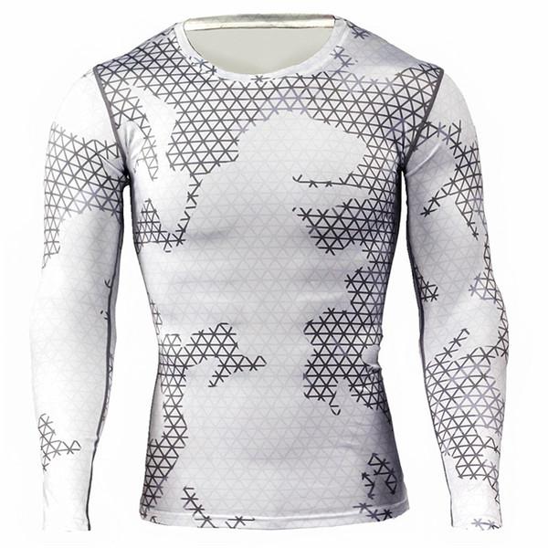 Compression Shirt Men Fashion Camouflage Long Sleeve T Shirt Men Crossfit Top Fitness 3D T Shirts T-Shirt