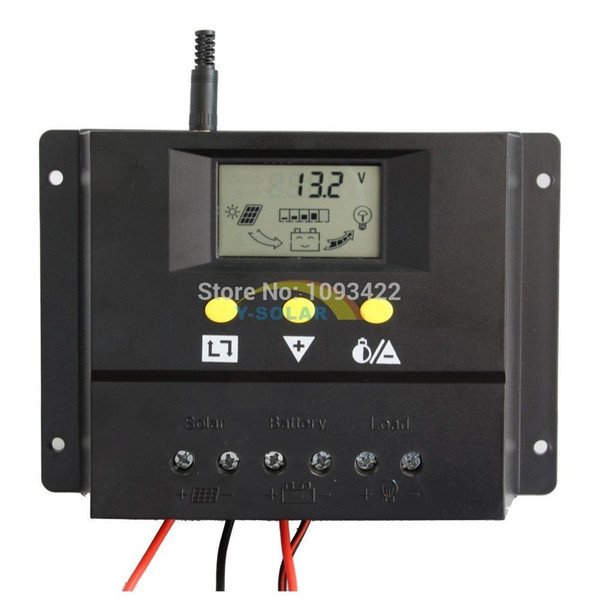 Freeshipping Solar charge controller 60A LCD display Voltage settable easy setup 12V 24V AUTO WORK durable solar panel voltage regulator