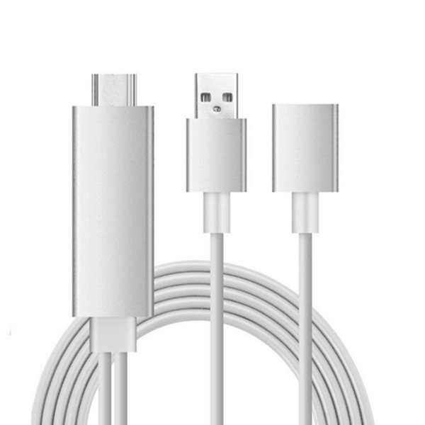 USB -C to HDMI Adapter Cable- White Color