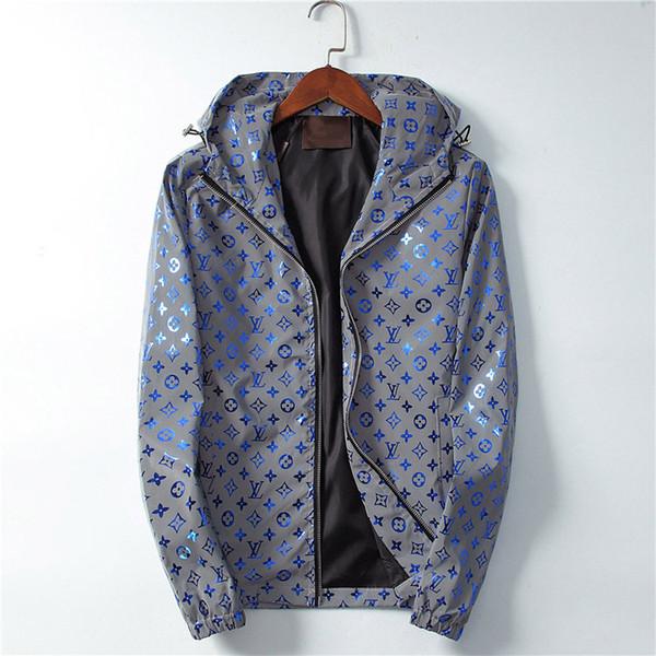 18-19ee.AutumnWinter nuevo diseñador de lujo de manga larga Medusa chaqueta cortavientos para hombre chaqueta informal para hombres