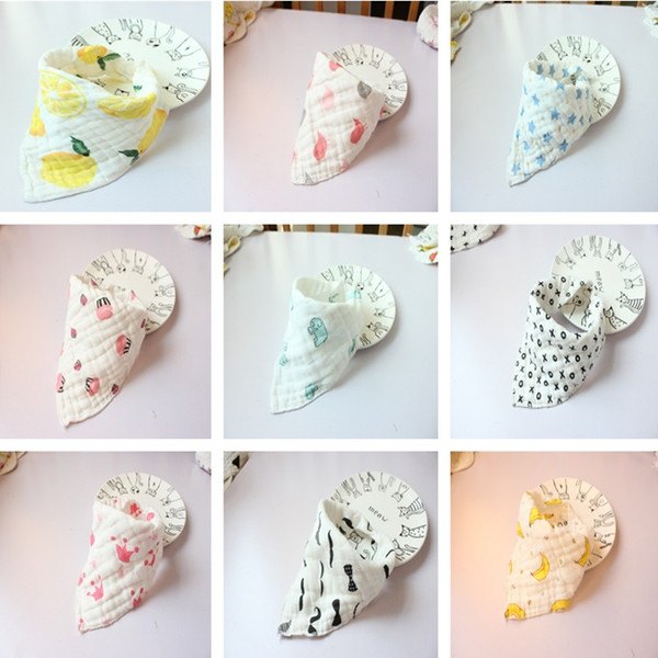 best selling 31 Style Free Choose New high quality baby bibs lunch Bibs  Towel Saliva Baby Kids Infants 8 layers of gauze Burp Cloths AA19123