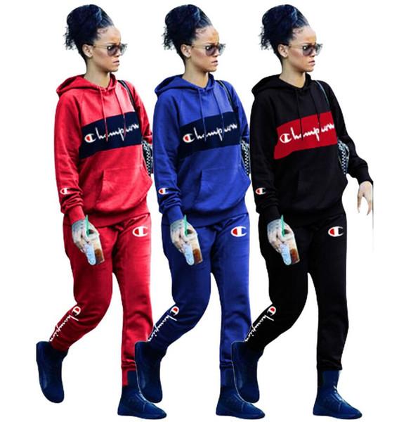 kanye west Vêtements pour femmes Bonnet à capuche Manches longues Veste + pantalon Imprimé Alphabétique Vêtements Marque Designers Vêtements pour femmes