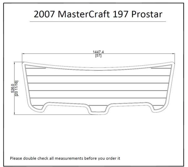 2007 MasterCraft 197 Prostar Boat Swim Platform Pad 1/4