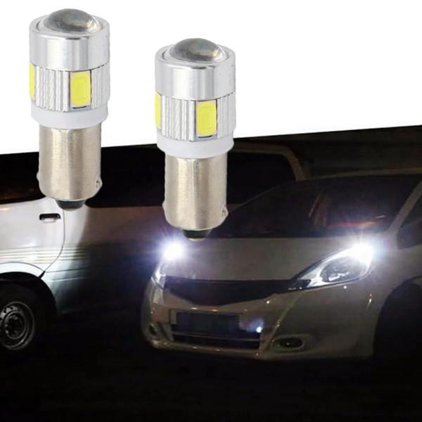 2/4/10 ADET BA9S 6 SMD 5630 LED Kama Ampul Park Okuma Dome Lamba Plaka Llight Beyaz DC 12 V Oto LED Enstrüman Işık
