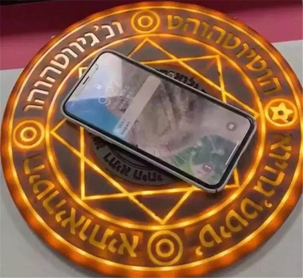 Sihirli Dizi Kablosuz Şarj Evrensel Qi Standart 5 W Sihirli Daire Hızlı Şarj iPhone Samsung Huawei Xiaomi için Şarj pedi