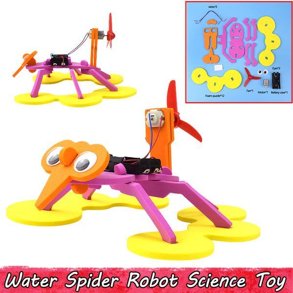 Schiuma Spider Robot Modello Giocattoli per bambini Esplorazione Fisica Scienza Esperimento Assemblaggio Kit modello Regali creativi Bomboniere